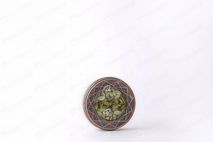 ##tt##-Saffron Metal Container - 7 grams