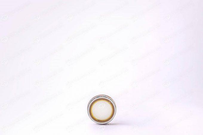 ##tt##-Saffron Metal Container White Bottom Circle 5