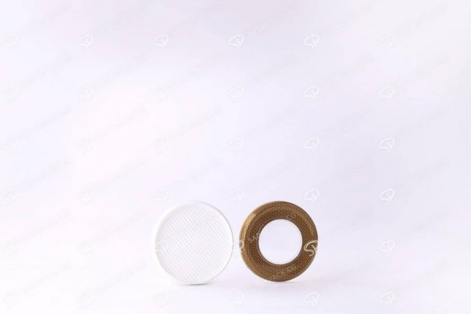 ##tt##-Saffron Metal Container White Bottom Circle 6.5