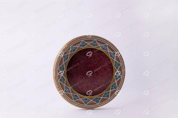 ##tt##-Saffron Metal Container White Bottom Circle 17 High Bottom