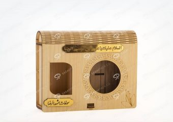 ##tt##-Wooden Saffron Box for Azin Medium And Metal 5gr