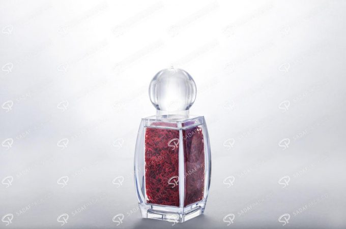 sadaf medium saffron container