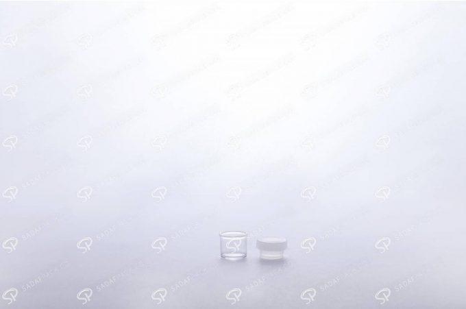 ##tt##-Saffron Powder Crystal Container - White Short