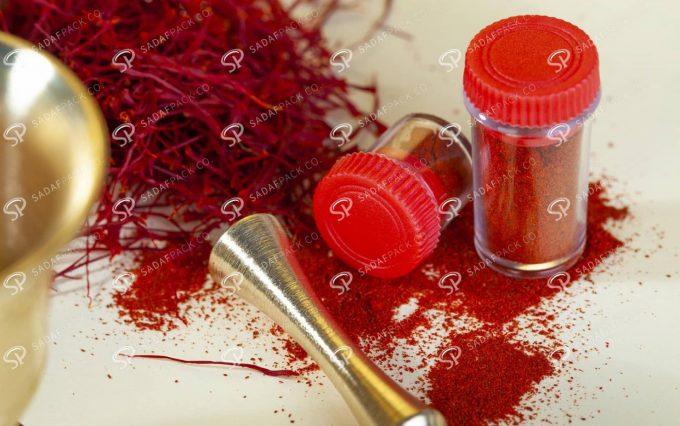 ##tt##-Saffron Powder Crystal Container - Red Long