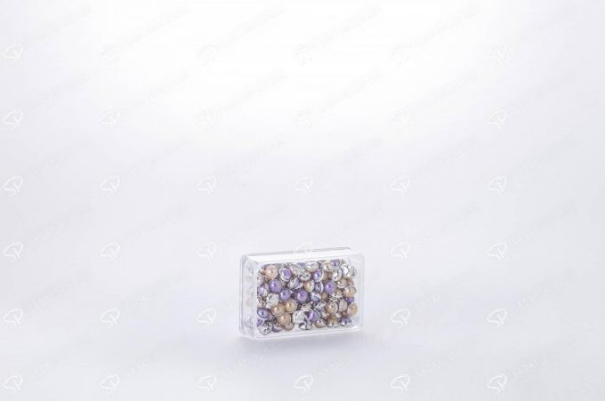 ##tt##-Saffron Rectangular Crystal Container - 1 (4 Deep)