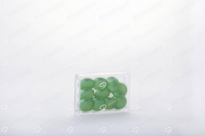 ##tt##-Saffron Rectangular Crystal Container - 2 (7 Deep)