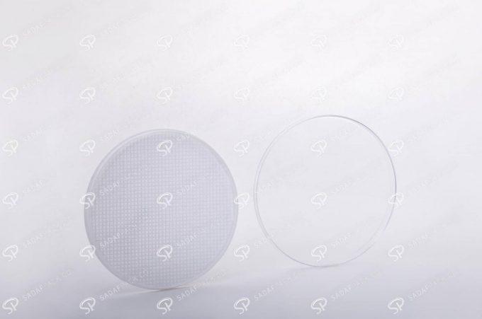 ##tt##-Saffron Crystal White Bottom Container - Round 5 (10 Slim)