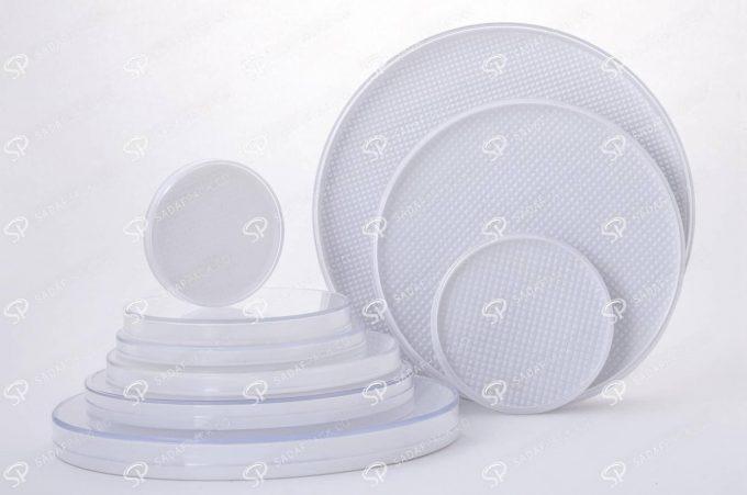 ##tt##-Saffron Crystal White Bottom Container - Round 7 (14 Slim)