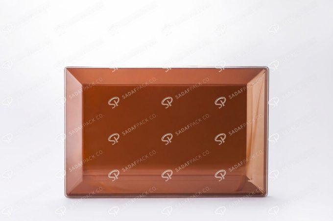 ##tt##-Crystal Container - Golden Bottom Designed Rectangular 200