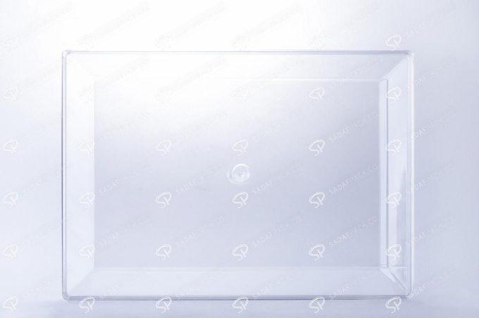 ##tt##-Crystal Container - Transparent Designed Rectangular 300