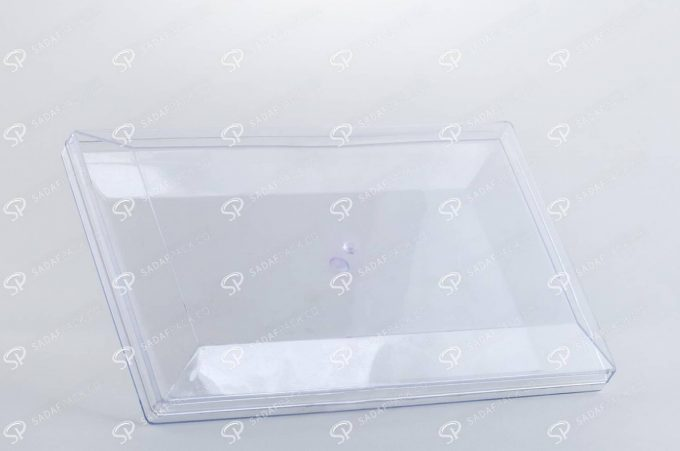 ##tt##-Crystal Container - Transparent Designed Rectangular 300