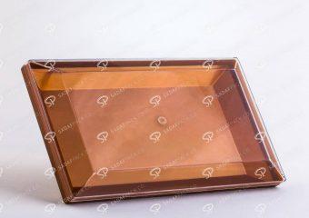 ##tt##-Crystal Container - Golden Bottom Designed Rectangular 300
