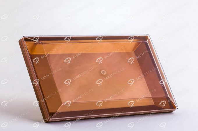 ##tt##-Crystal Container - Golden Bottom Designed Rectangular 300