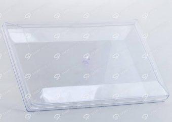##tt##-Crystal Container - Transparent Designed Rectangular 500
