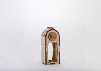 صندوق الزعفران الخشبي لحاوية جوهر حجم صغير