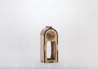 صندوق الزعفران الخشبي لحاوية آذين حجم صغير