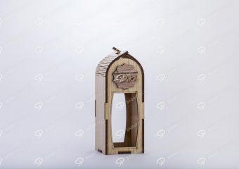 صندوق الزعفران الخشبي لحاوية آذين حجم متوسط