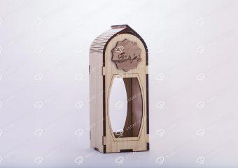 صندوق الزعفران الخشبي لحاوية آذين حجم کبیر