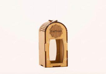 صندوق الزعفران الخشبی لحاوية جوهر حجم کبیر