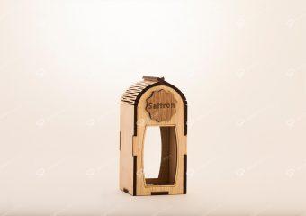 صندوق الزعفران الخشبی لحاوية جوهر حجم متوسط