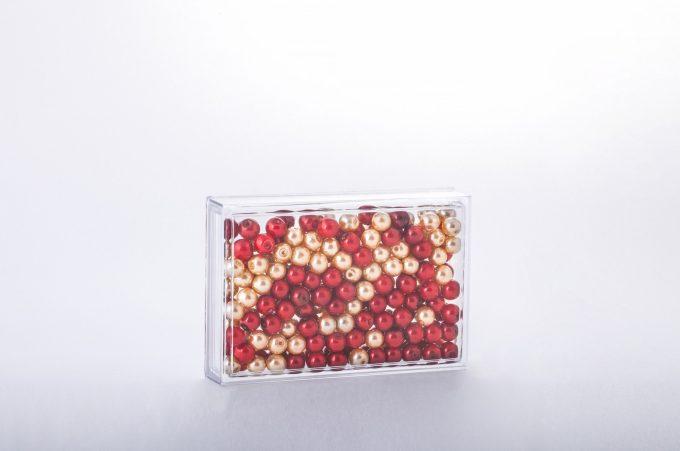 ##tt##-Saffron Rectangular Crystal Container - 4 (12.5)