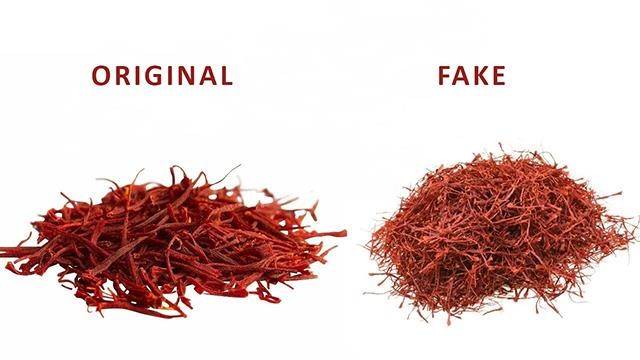 distinguish the fake saffron 4