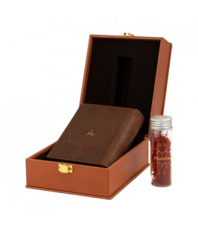 If you want a real Luxury Saffron Packaging. Leather saffron packaging Boxes would be a nice option.