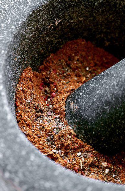 stone saffron mortar