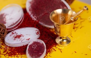 this is to show saffron mortar and pestle