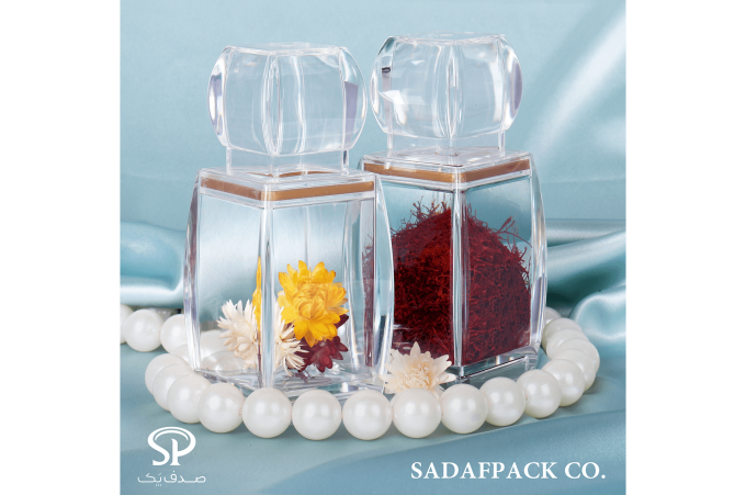 saffron packaging container for high volume