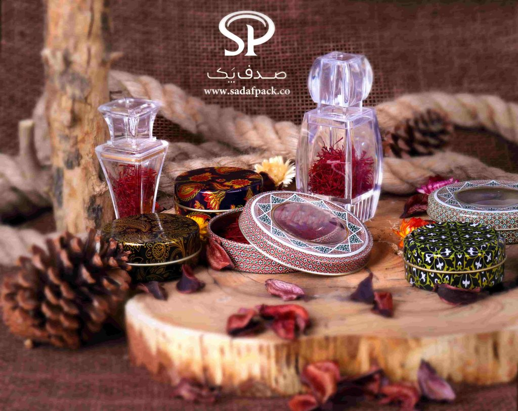 saffron packaging containers in India