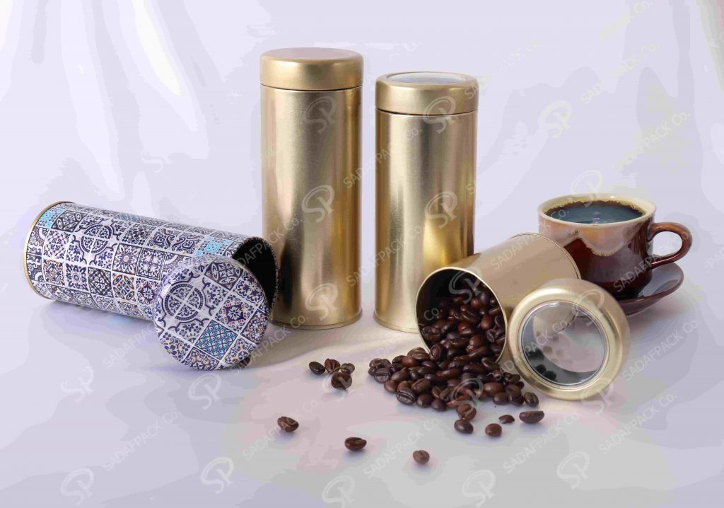 saffron packaging metal containers
