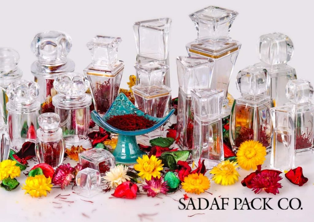 saffron packaging container in middle east countries