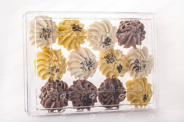 poly-crystal pastry packaging