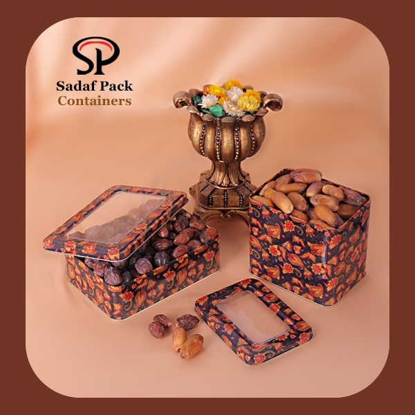 Metal date packaging Container